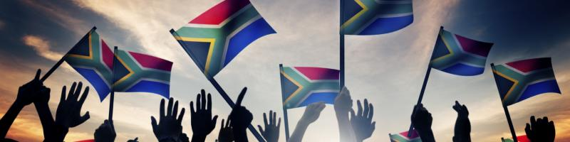 South African flags banner